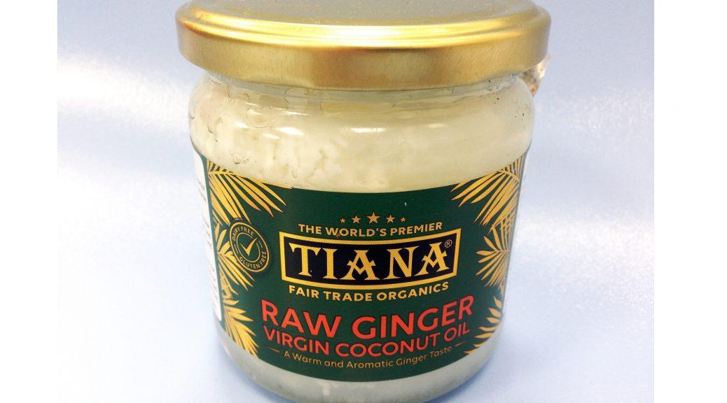 Tiana Fair Trade Organics – Raw Ginger Virgin Coconut Oil