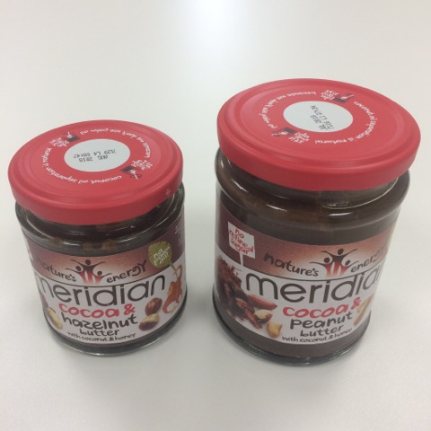 Meridian – Cocoa & Peanut Butter and Cocoa & Hazelnut Butter