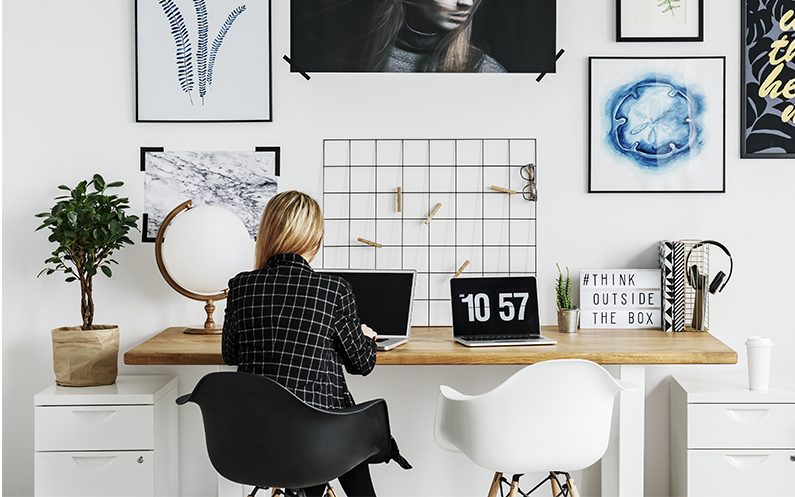 Creating a healthy home working routine