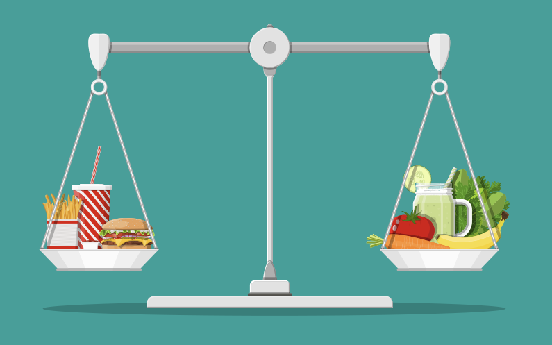 The scale of the junk food diet